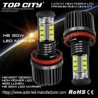 Brightest 120W LED Angel Eyes H8 E92 LED Marker for Car