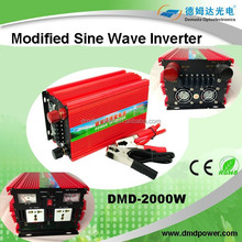 2000 watt 12 volt dc to 220 volt power inverter of modified sine wave