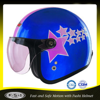 vintage style open face motorcycle scooter moped helmet 886