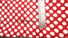 KTCF-60 Jaipur hand block Printed polka dots 100% cotton color Red and White