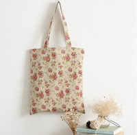 TT0015 Reshine Flower Full Color Printed Linen Beach Bag Fashion Design Canvas Tote Bag for Girls Wholesale in Yiwu