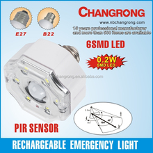 PIR Sensor Rechargeable Emergency Lamp LED Sensor Lamp