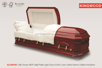 ELEANOR wood veneer casket mdf casket box