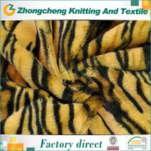 custom leopard/zebra printed fleece dacron hs code fabric polyester