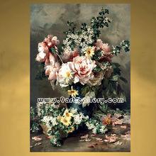 Modern painting flower vase still life oil painting on canvas decorative fine art