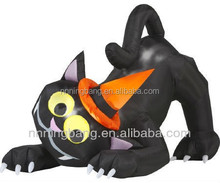 NB-HW2006 Ningbang New Halloween Inflatable Animated Black Cat with Turning Head for halloween party