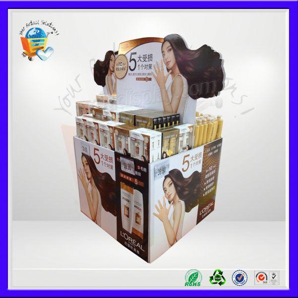 Palette carton vidage bin stand, Palette carton canne présentoir