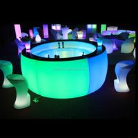 beautiful color change lilluminate led lounge counter