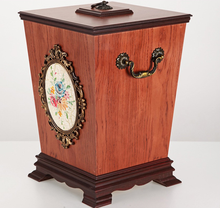 Decorative Wooden Trash Can,Wooden Garbage Can