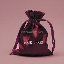 Custom satin logo printing silk jewelry bag