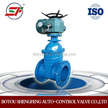China cast iron/cast steel/Stainless Steel Electric Gate Valve