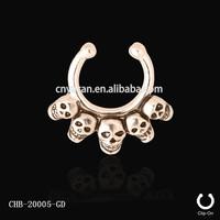 Non Pierced Skulls Fake Septum Piercing Attractive Design Nose Ring
