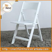 Modern White Plastic Folding Wedding Chair