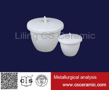 Crisol de porcelana de cerámica con tapa tapa