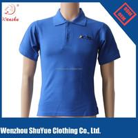 100% cotton women polo t shirt blue color ,Oem logo t shirts .