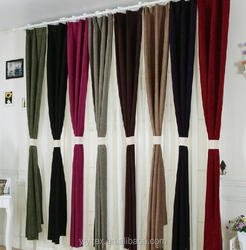 The fancy chenille finished curtains