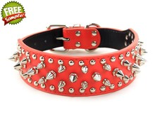 CL039-2 Wholesale and Custom Leather Pet Collar Dog Collars