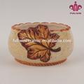 novidade china fornecedor de açúcar de cerâmica tigela com projeto da folha