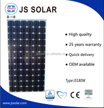 Factory Price High Efficiency High Quality 180W Mono Solar Panel