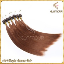 High quality no shedding micro ring hair extension, micro loop hair extension