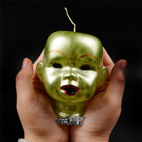 Baby Doll Head Large Decorative Silicone Candle Mould for Halloween