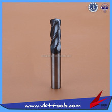45HRC High precision Round nose Solid Carbide Milling Cutter High quality-----------(1-4)*50