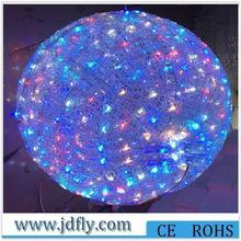 2014 venda quente 3d outdoor iluminado grande bola de natal