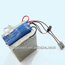 rechargeable lithium polymer 24v 60ah 8s3p lifepo4 ebike battery pack with BMS and 4A charger