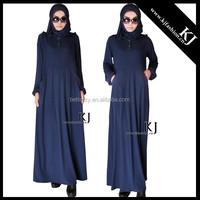 KJ-20150313 spandex drap women navy muslim abaya modest women dress simple fashion women jilbabs