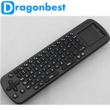 2.4GHz Wireless Fly RC12 Air Mouse Touchpad Keyboard Key for Android PC TV BOX