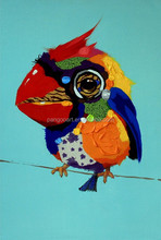 Latest design painting Fish Bird Oil Painting for home decor