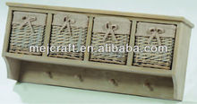 High quality and low price 4 wicker drawers file cabinet wall mount cabinet