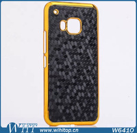 Basketball Wave Leather Cover & Chrone PC Case for HTC ONE M9