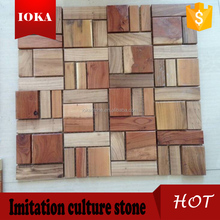 natural customized Wooden mosaic tiles for sale