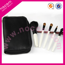 Noconi 2015 5pcs cute cosmetic travel colourful mini gift brush set zipper bag