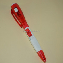 Red Color LED Light Customized Logo Cheap Promotional Pen