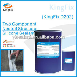Two component silicone pouring sealant