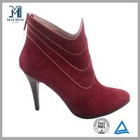 Italian designer ladies winter high cut suede leather boots