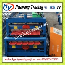 Double layer color steel aluminum corrugated plate and arch roll forming machine