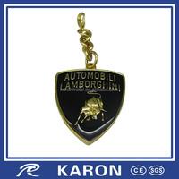 classic 3d metal lamborghini key chain with epoxy coating