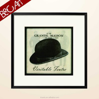 Black hat for gentleman English words pop wall art painting