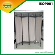2015 Fashion style exquisite 4 panel folding metal room divider
