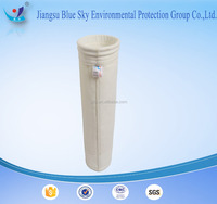 Nonwoven Polyester filter bag (filter socks) with PTFE membrane used in Steel plant for dust collecting