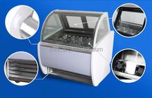üretici tedarik özelleştirilebilir gelato ekran vitrin dondurucu