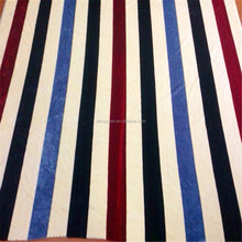 Wholesale Strip Printed Blanket Fabric Knitted Bedding Sets Fabrics