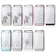 Luxury Shining Crystal Diamond Electroplate Case cover For iPhone 6
