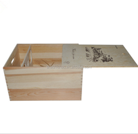 Custom wood box sliding lid,unfinished wood box with sliding lid by shanghai manufacturer