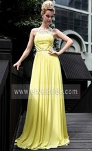 Sexy Jewel Neck Beaded Prom Dress Night Gown Wedding Party Dress Gold Evening Dress Malaysia Online Shopping c73