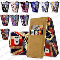 Cell Phone Cases Up Down Flip Leather Skin Cover For Samsung Galaxy S6 With Two Slot Card