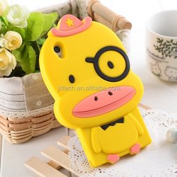 cute animal style mobile phone case, silicone case factory